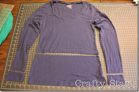 Long Sleeved Shirt Refashion - Crafty Staci 3