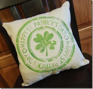 Shamrock Stamp Pillow 5