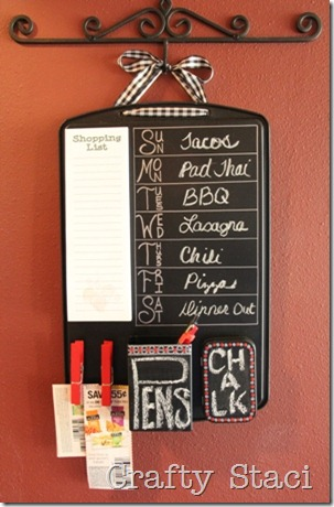 Cookie Sheet Kitchen Command Center - Crafty Staci
