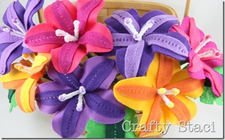Felt Flowers - Crafty Staci 13