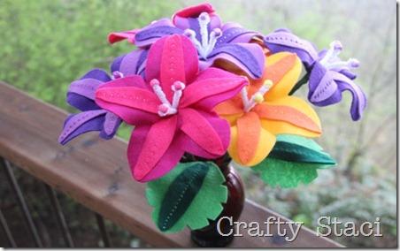 Felt Flowers - Crafty Staci 1