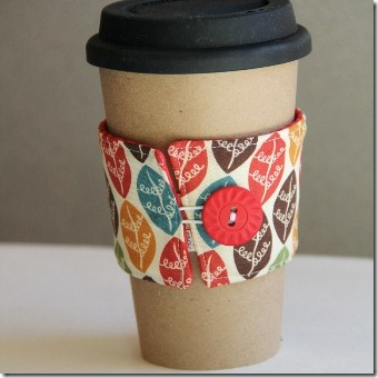 Sew a Reversible Coffee Cup Sleeve - Crafty Staci 1