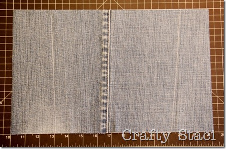 Yogurt Tub and Jeans Drawstring Bag - Crafty Staci 2