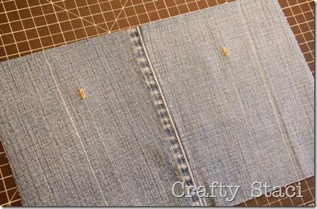 Yogurt Tub and Jeans Drawstring Bag - Crafty Staci 3