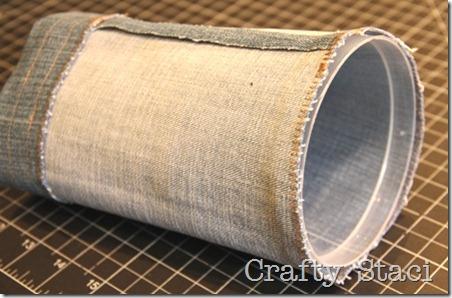 Yogurt Tub and Jeans Drawstring Bag - Crafty Staci 6