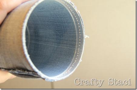 Yogurt Tub and Jeans Drawstring Bag - Crafty Staci 7