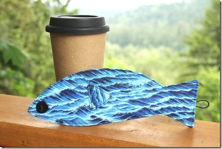 Fish Coffee Sleeve - Crafty Staci 1