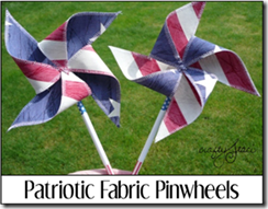 Patriotic Fabric Pinwheels