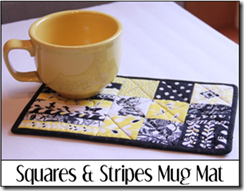 Squares and Stripes Mug Mat