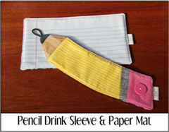 Pencil Drink Sleeve and Paper Mat