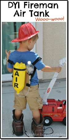 DIY Fireman Air Tank from Crayon Box Chronicles