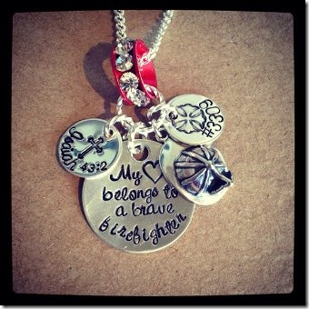 Firefighter wife necklace from BELOdesigns on Etsy