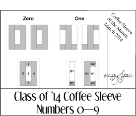 Class of '14 Coffee Sleeve Extra Numbers