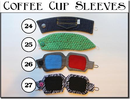 Coffee Cup Sleeves - Set C - Crafty Staci