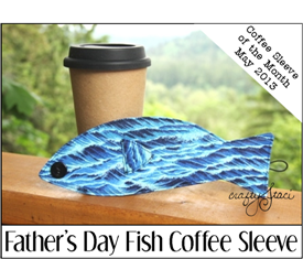 Father's Day Fish Coffee Sleeve