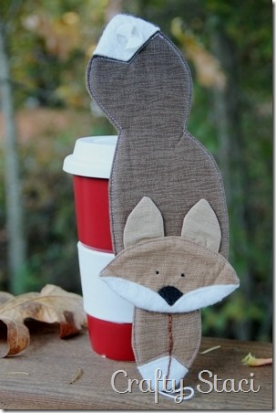 Fox Coffee Cup Sleeve - Crafty Staci 10