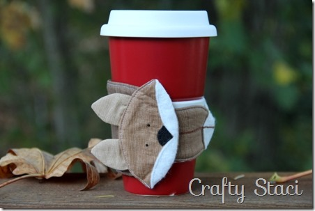 Fox Coffee Cup Sleeve - Crafty Staci 11