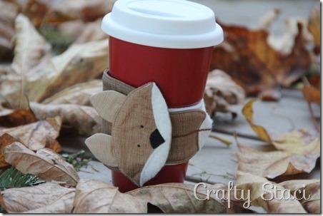 Fox Coffee Cup Sleeve - Crafty Staci