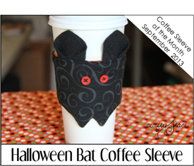 Halloween Bat Coffee Sleeve