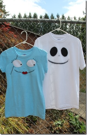 Jack and Sally T Shirts - Crafty Staci 1