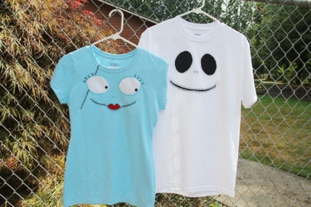 Jack and Sally T-shirts from The Nightmare Before Christmas
