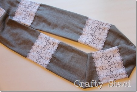 Linen and Lace Infinity Scarf - Crafty Staci 10