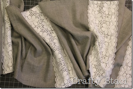 Linen and Lace Infinity Scarf - Crafty Staci 4