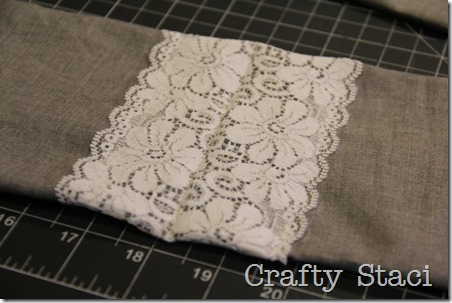 Linen and Lace Infinity Scarf - Crafty Staci 9
