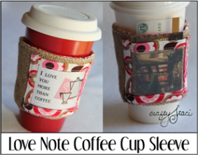 Love Note Coffee Cup Sleeve