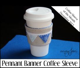 Pennant Banner Coffee Sleeve