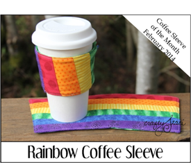 Rainbow Coffee Sleeve