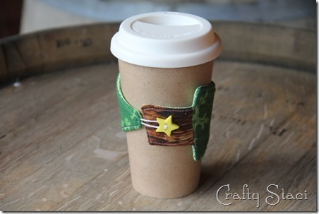 Christmas Tree Coffee Sleeve - Crafty Staci 10