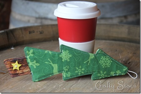 Christmas Tree Coffee Sleeve - Crafty Staci 11