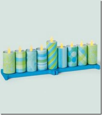 Dollar Store Crafts Tea Light Menorah
