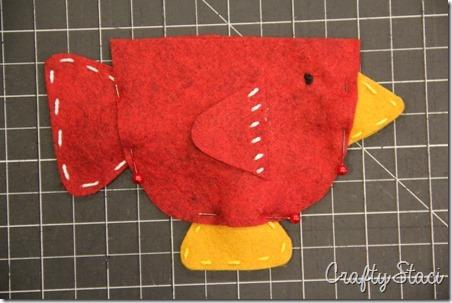 Teacup Bird Gift Card Holder - Crafty Staci 5