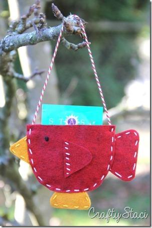 Teacup Bird Gift Card Holder - Crafty Staci 8