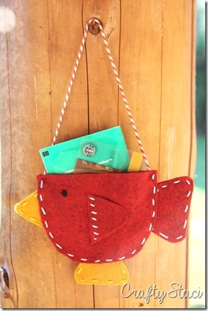 Teacup Bird Gift Card Holder - Crafty Staci