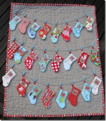 Trillium Design - Stocking Advent Calendar Quilt