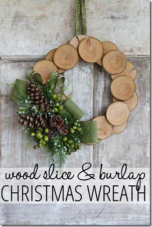 WoodSliceandBurlapChristmasWreath - Finding Home Online