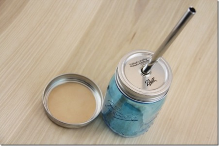 Drinking Jar, Steel Straw and Mason Coaster - CraftyStaci
