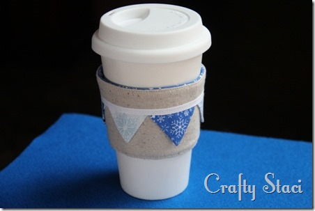 Coffee Sleeve of the Month - Pennant Banner - Crafty Staci 12