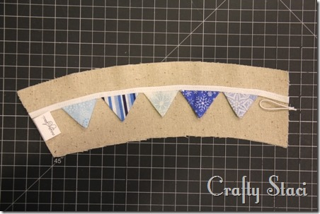 Coffee Sleeve of the Month - Pennant Banner - Crafty Staci 7