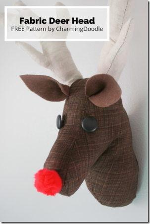 Fabric Deer Head from Charming Doodle