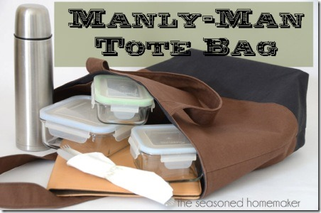 Manly Man Tote Bag from Seasoned Homemaker