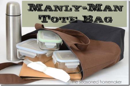 Manly Man Tote Bag from Seasoned Homemaker