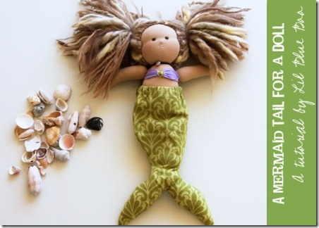 Mermaid Tail for a Doll by Lil Blue Boo