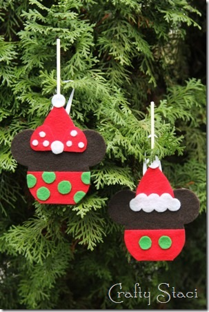 Mickey and Minnie Caramel Apple Ornaments - Crafty Staci 1