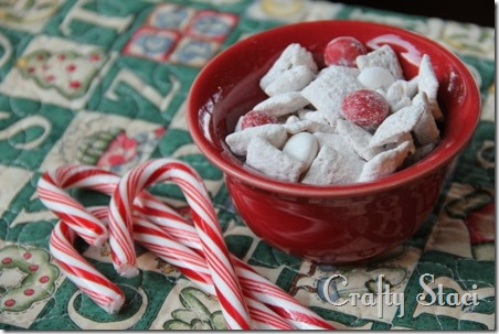 Peppermint Vanilla Chex Mix - Crafty Staci 1