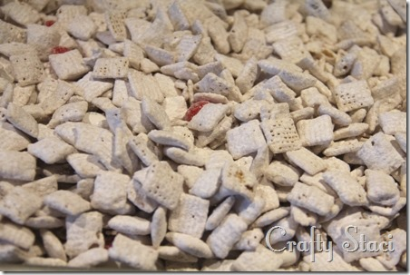 Peppermint Vanilla Chex Mix - Crafty Staci 4