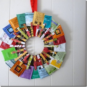 Tea Wreath from Dollar Store Crafts
